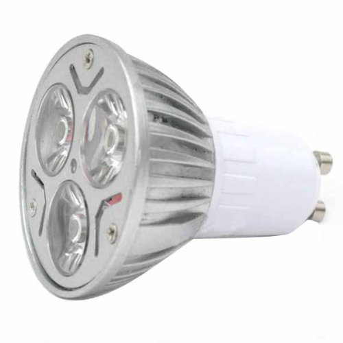 Generic 3W 220V Mr16 Led Bulbs With Gu10 Interface For Hotels Aisles Indoor Size 3.1X3.1X3.5 Color Silver