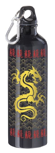 Oggi Aluminum Sports Bottle, Golden Dragon