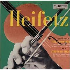 ヤッシャ・ハイフェッツ(Vn)、スタインバーグ指揮ほか コルンゴルド:ヴァイオリン協奏曲&ラロ:スペイン交響曲のAmazonの商品頁を開く
