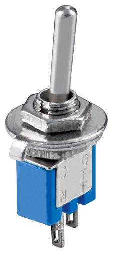 Kippschalter Subminiatur, EIN-AUS, 2 Pins, blaues Gehäuse