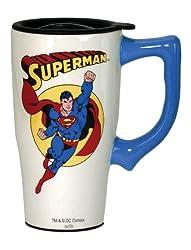 DC Comics Superman Travel Mug, White