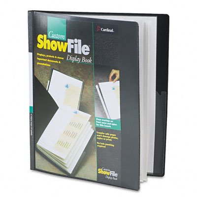 Showfile display book with custom cover pocket, 12 sleeves, black - Buy Showfile display book with custom cover pocket, 12 sleeves, black - Purchase Showfile display book with custom cover pocket, 12 sleeves, black (Cardinal, Office Products, Categories, Office & School Supplies, Binders & Binding Systems, Report Covers)