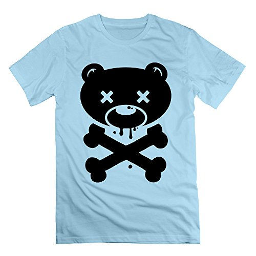Men's Bear Skull Short-Sleeve T-shirt SkyBlue 3X