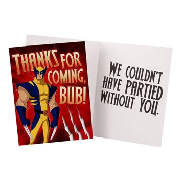 Wolverine Thank You Notes w/ Envelopes (8ct)