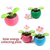 Toy Gift Solar Flower Home Ornament Swing Dancing Flower Colorful Solar Power Flip Flap Flower Flowerpot For Auto Car