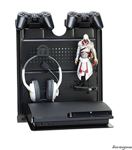 gameside-bundle-ezio-auditore-game-console-horizontal-wall-mount-w-multicolor-led-light-metal-floati