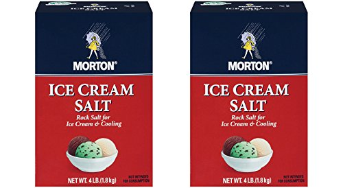 Morton Ice Cream Salt 8 lbs (2x4 lbs boxes) (Ice Cream Rock Salt compare prices)
