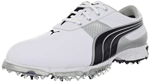 PUMA Men's Spark Sport 2 Golf Shoe,White/Black/Puma Silver,10 M US