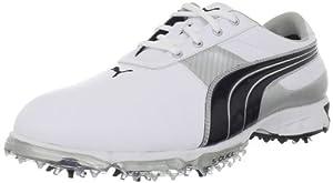 PUMA Men's Spark Sport 2 Golf Shoe,White/Black/Puma Silver,10 M US