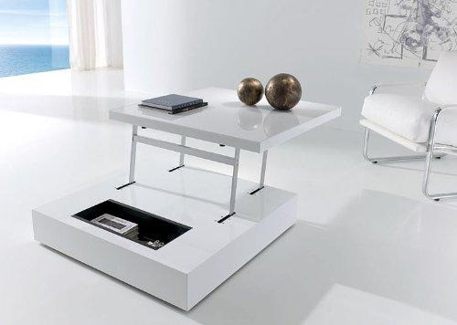 Mesa de centro elevable Raf blanco brillo