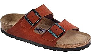 Birkenstock Women's Arizona Soft Footbed Sandal Rooibos Tea Suede Size 40 M EU