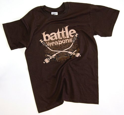 DMC Technics Battle Weapons DJ Mens T-Shirt Brown D012S Small