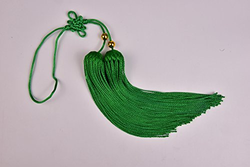 Shan Ren Sports Prosessional Chinese Sword Tassel Multi Color (Green)