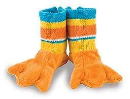 Rich Frog Beastly Baby Booties - Orange Duck Slipper Socks