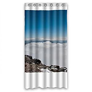 anti bacterial polyester shower curtains beach size w h 36 72 inch 91 183 cm. Black Bedroom Furniture Sets. Home Design Ideas