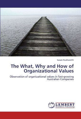 The What, Why and How of Organizational Values: Observation of organizational values in fast-growing Australian Companies PDF