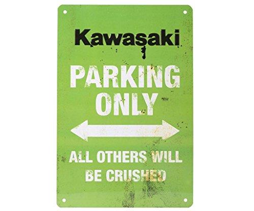 Kawasaki parcheggio Targa vintage. Novità. Di bikerworld