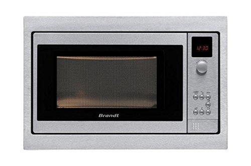 Brandt ME1030X Four Micro-Ondes Classique Intégrable 26 L Inox et Noir