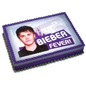 Justin Bieber Edible Cake Image Topper Decoration