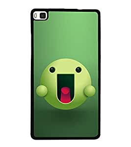 Green Cartoon with Pink Tongue 2D Hard Polycarbonate Designer Back Case Cover for Huawei P8