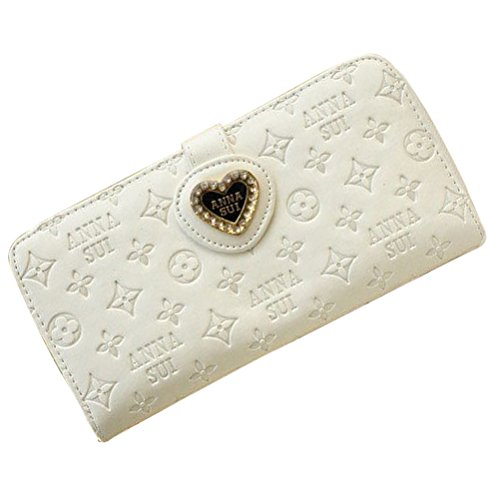 unihandbag Girl Long Zip Purse Heart Wallet Card Coin Mobile Phone PU Leather