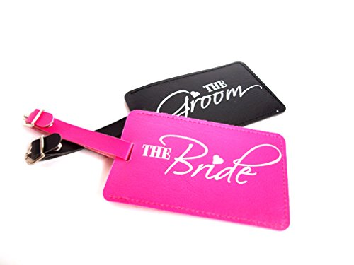 Just Married The Bride and The Groom Wedding Honeymoon Luggage tags Set of 2 by Express Novelties Online