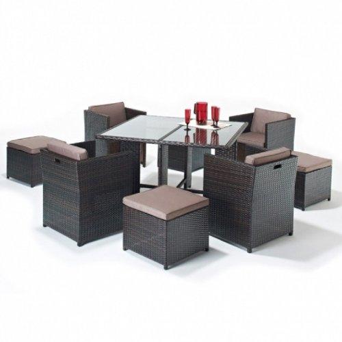 Cambridge Rattan Gartenmöbel, 4 Stühle, Cube Set günstig bestellen