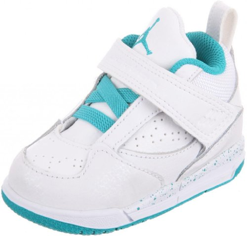 Nike Jordan Toddlers Jordan Flight 45 GT White/Turbo Green/Volt Ice Basketball Shoe 10 Infants US