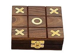 Premium Giftz Wooden Puzzle Game Tic Tac Toe
