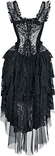 Burleska Ophelie Dress Abito lungo nero/argento L