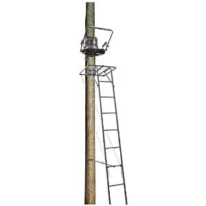 Big Dog BDL-205 16-Feet Ladder Stand with Large 26 x32-Inch Platform/Flip-Up Seat