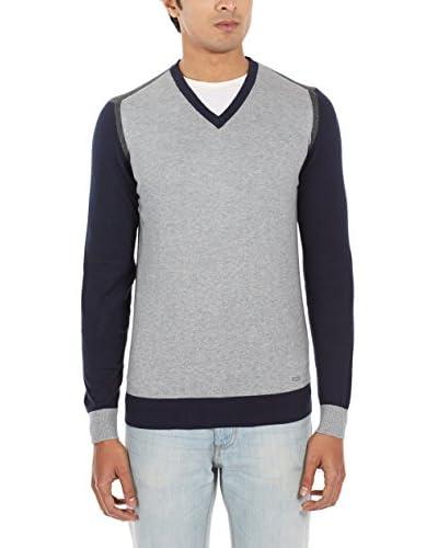 Gas Jeans Pullover blau/grau