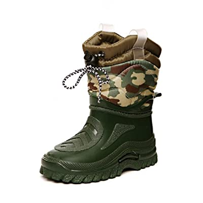 Boys Camouflage Green Snow & Rain Boots