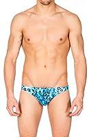 Men's Print Contour Pouch Greek Bikini Swimsuit by Gary Majdell Sport