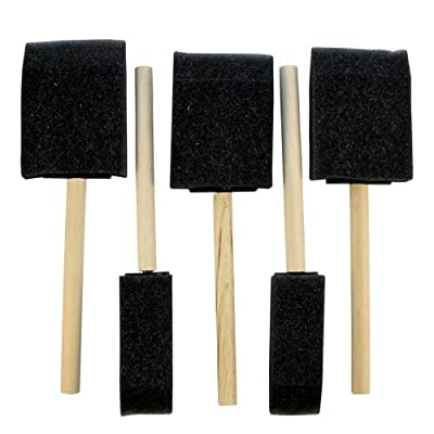 Pack of 5 Assorted Size Foam Crafting Brushes