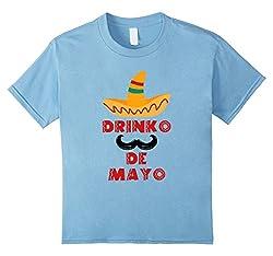 Cinco De Mayo - Drinko De Mayo T-Shirt, Funny Mexican Gift by Lux Apparel