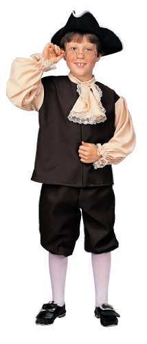 Rubie'S Deluxe Child'S Colonial Boy Costume, Large front-635861