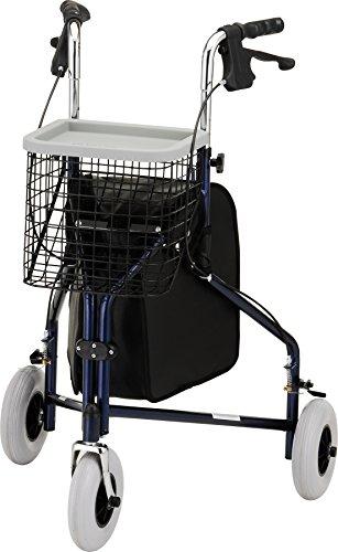 NOVA Medical Products Traveler 3-wheel walker, Blue