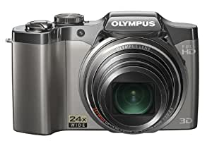"Olympus SZ30 16 MP Digital Camera, Wide-Angle 24x Optical Zoom with Multi-Recording Capability and 3"" LCD (Silver) (Old Model)"
