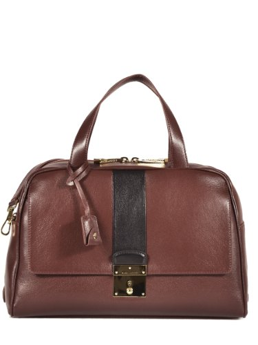 Marc Jacobs Frankie Two-Tone Duffle Bag in Chestnut/Black #81493