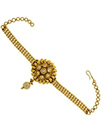 Anuradha Art Gold Plating Kundan Embedded Bajuband Armlet For Women,Girls - B01EQ20M8C