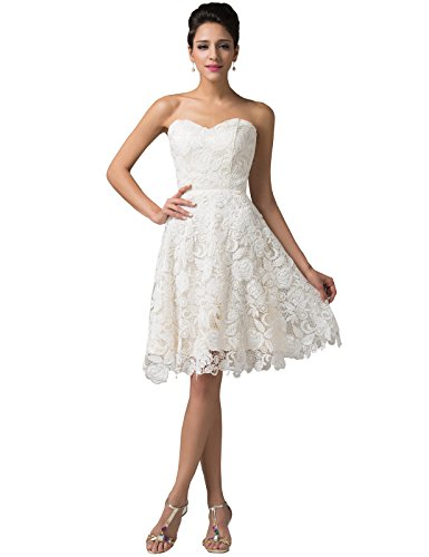 Womens Short Prom Ball Gown Cocktail Party Dresses ,Ivory,1
