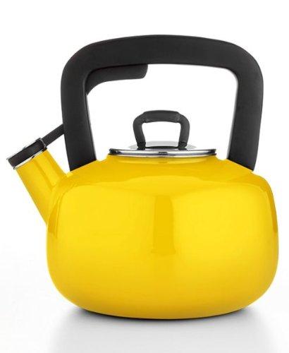 Martha Stewart Collection Enameled Steel 2.5 Qt. Tea Kettle - Maize Yellow