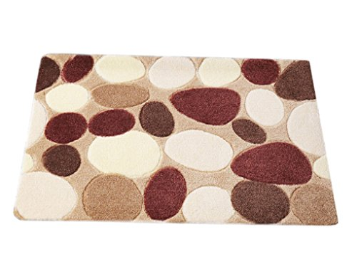Starsource Thickening Carpet Dimensional Area Rug Carpet Anti-slip Floor Mat Doormat Bedroom Mat Bathroom Blanket 45*70cm Pebbles