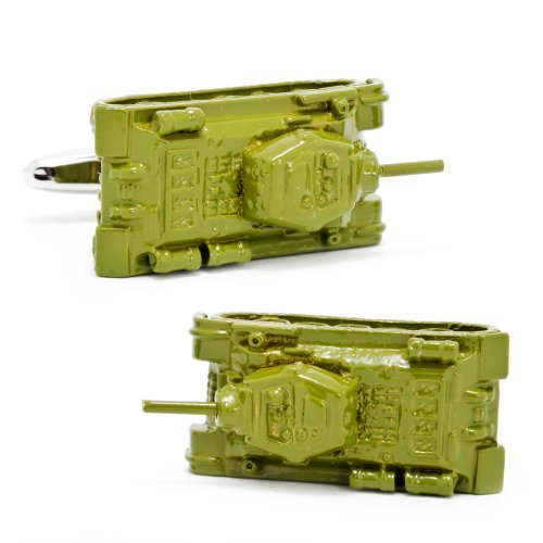 Army Green Tank Cufflinks