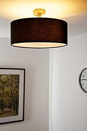 deckenlampe mit schwarzem stoffschirm 40 cm durchmesser us88. Black Bedroom Furniture Sets. Home Design Ideas