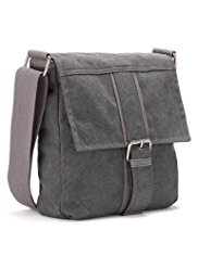 Canvas Buckle Messenger Bag