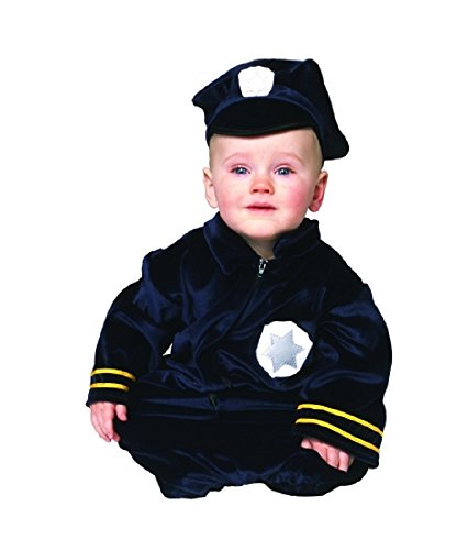 Baby Police Bunting Costume Size 0-9 Months