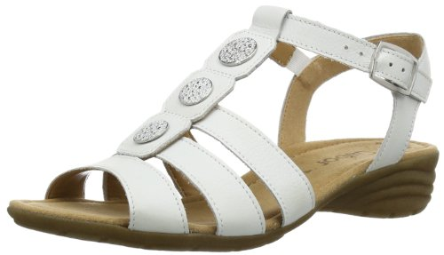 Gabor Womens Eartha L T-Bar 84.552.21 White 6.5 UK, 40 EU