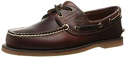 Timberland Men\'s Classic Boat Shoe,Rootbeer/Brown,9.5 M